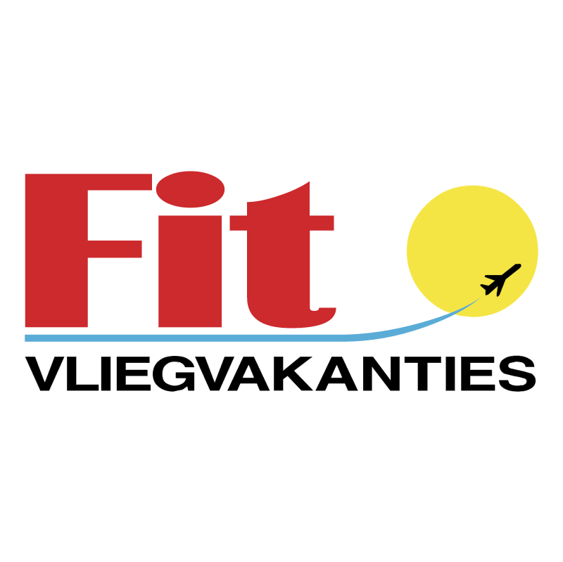 Fit Vliegvakanties vector