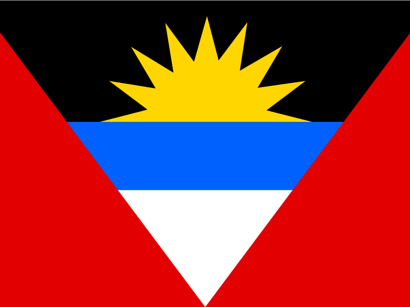 Flag of Antigua and Barbuda vector