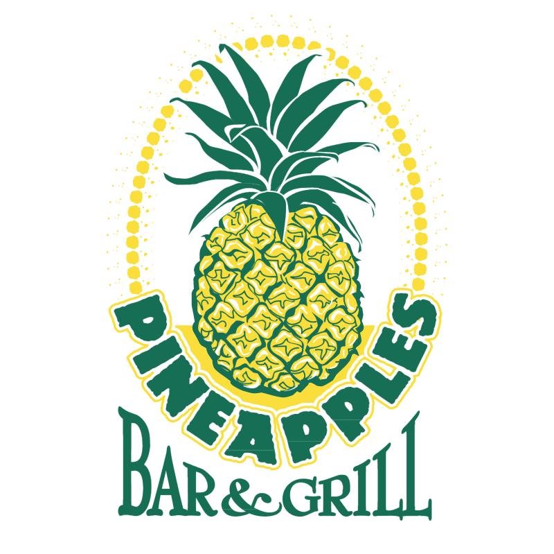 Pineapples vector logo