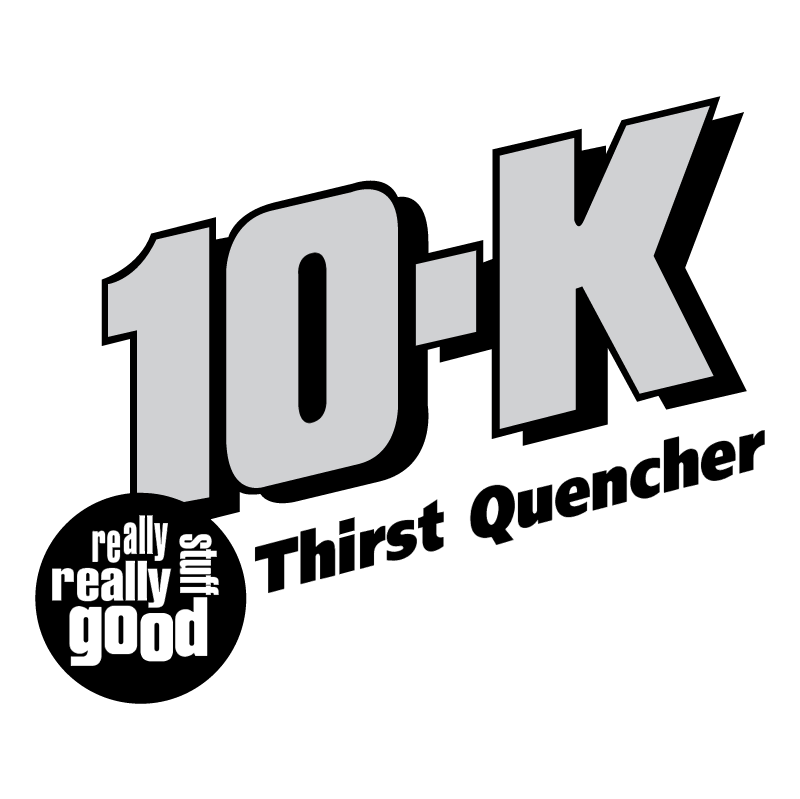 10 K Thirst Quencher vector logo