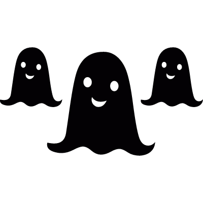 Halloween ghosts logo