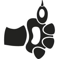 Cat paw like symbol vector