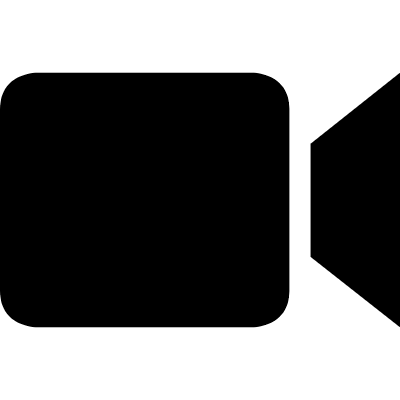 Video symbol of black camera logo