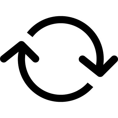Arrows circle with clockwise rotation logo