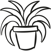 Garden Plant In a Pot vector