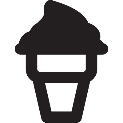 Ice Cream Cup vector logo