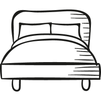 Big Bed vector