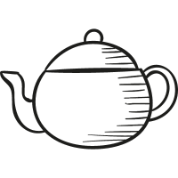 Teapot Facing Left vector