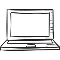 Draw Laptop vector