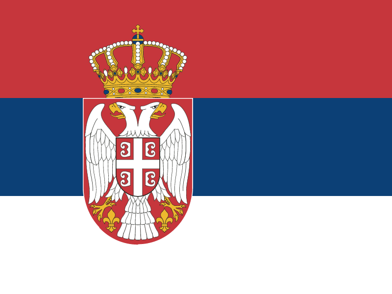 Flag of Serbia vector logo
