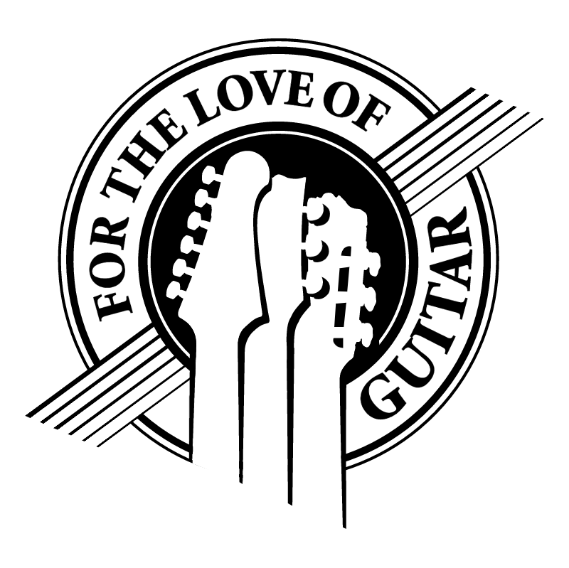 For The Love of Guitar vector logo