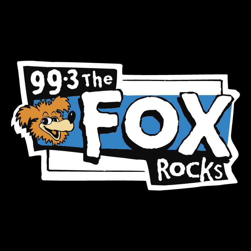 Fox Rocks vector