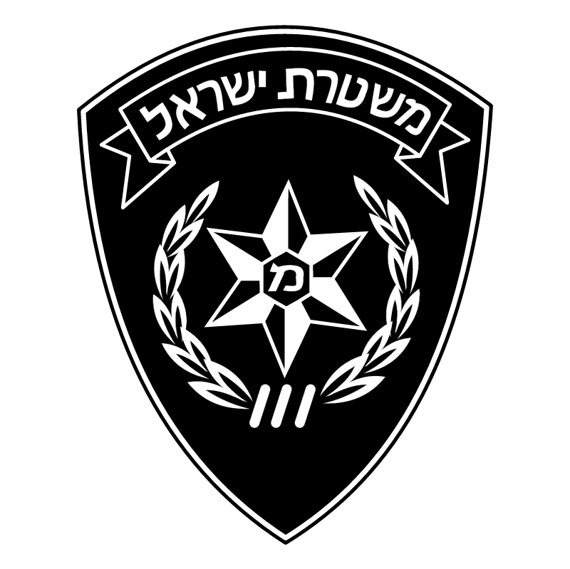 Police Israel vector
