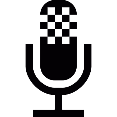 Broadcast microphone logo