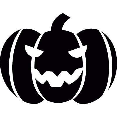 Pumpkin for Halloween vector logo