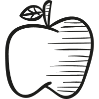 Drawing of an apple vector