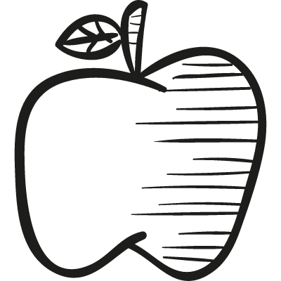 Drawing of an apple vector logo