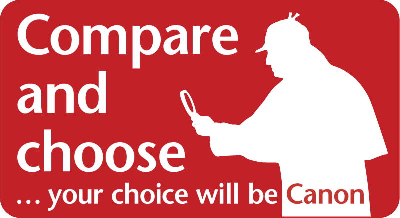 Canon Compare choose logo