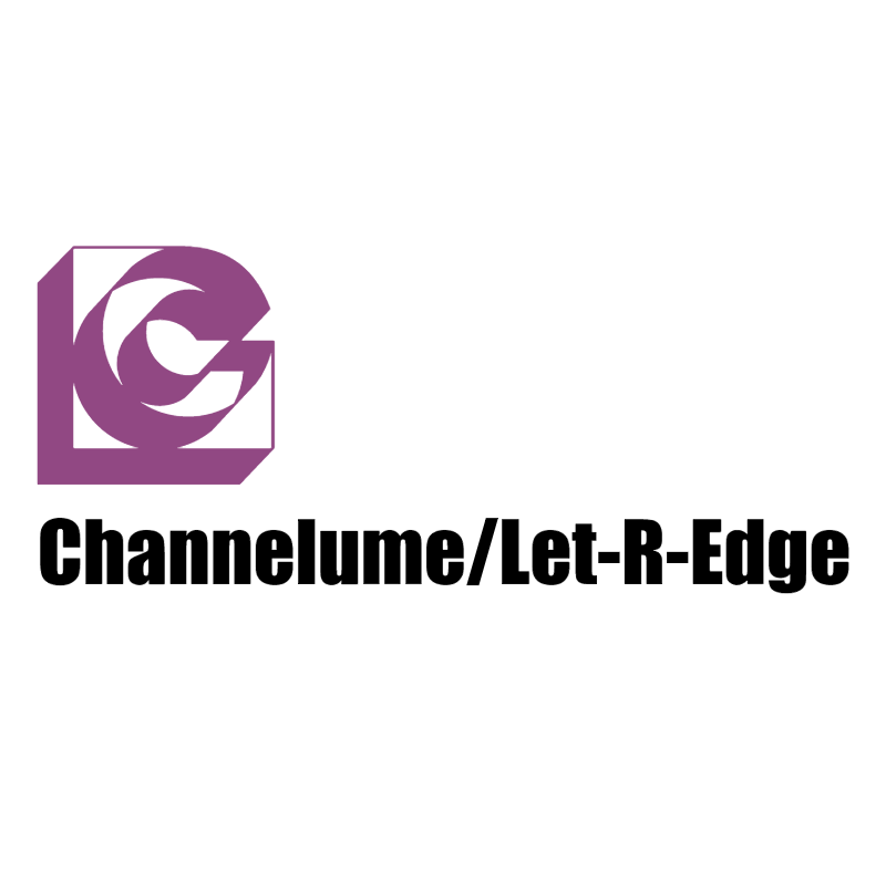 Channelume Let R Edge vector logo