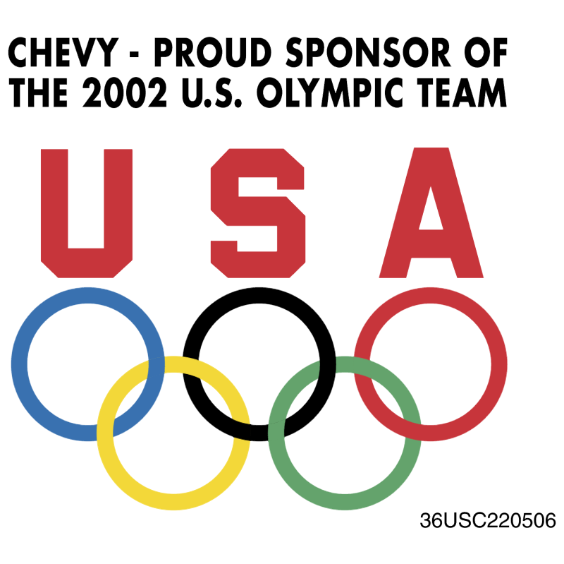 Chevy Sponsor of Olympic Team logo
