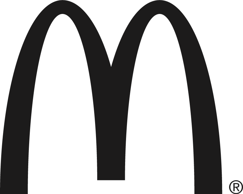McDonald's black vector