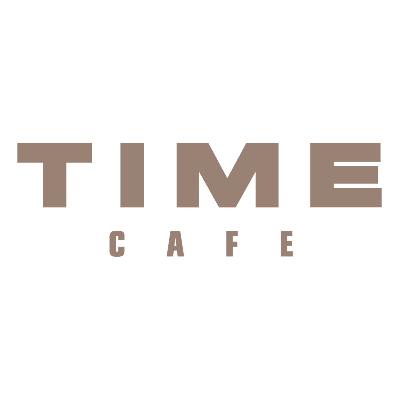 Time Cafe vector logo