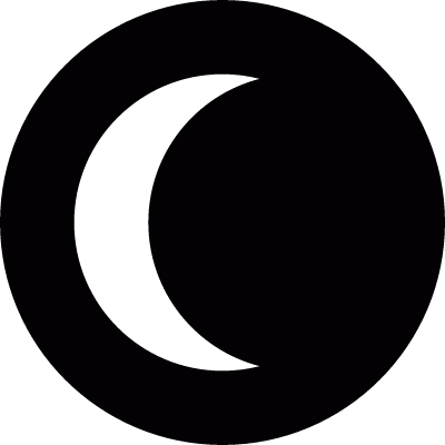 Sun eclipse logo