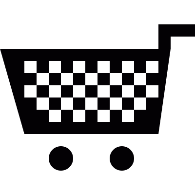 Supermarket Shopping cart vector logo