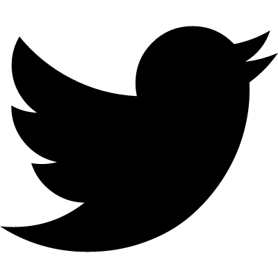 Twitter black shape logo