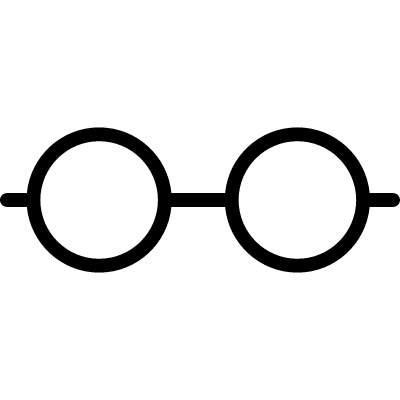 Horizontal line with two dots logo