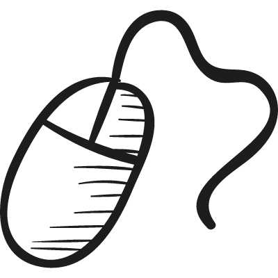 Draw Computer Mouse logo