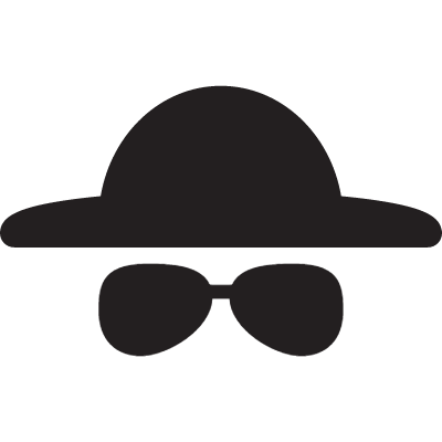 Hat and Sunglasses vector logo