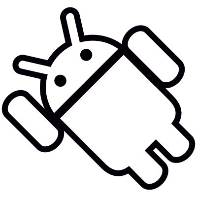 Android with Arm Up Inclined Left logo