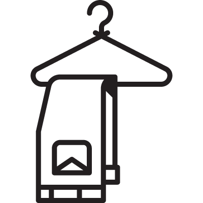 Hanger with Trousers logo