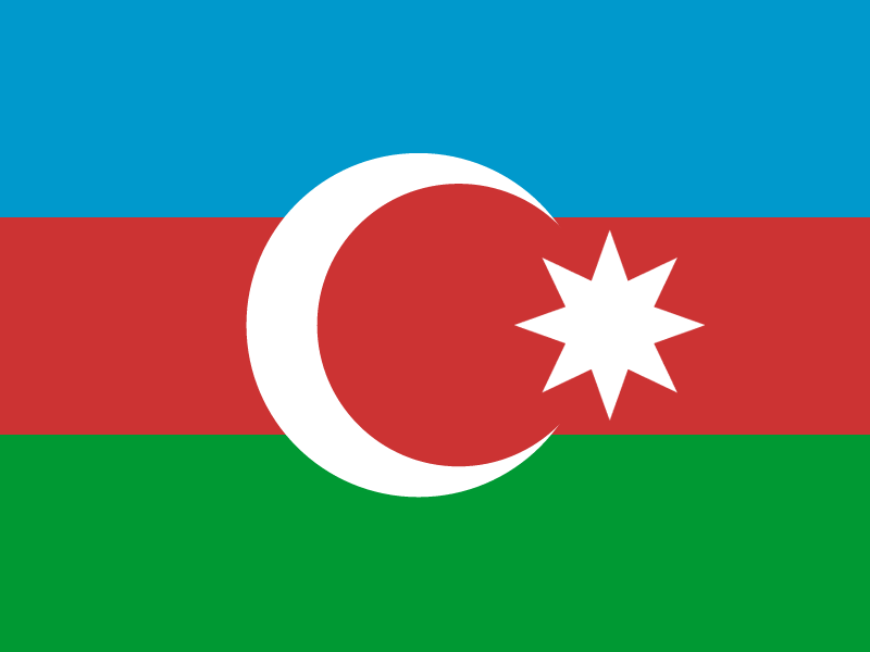 Flag of Azerbaijan vector