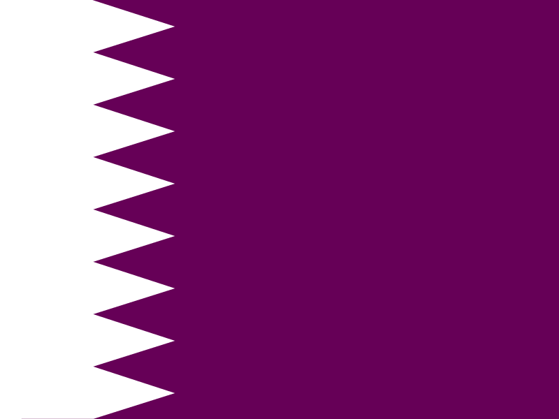 Flag of Qatar vector logo