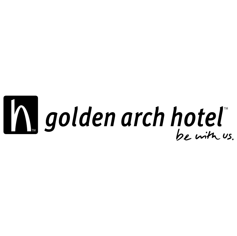 Golden Arch Hotel vector logo