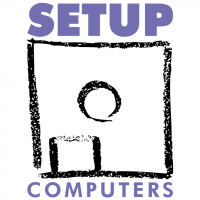 Setup Computers vector