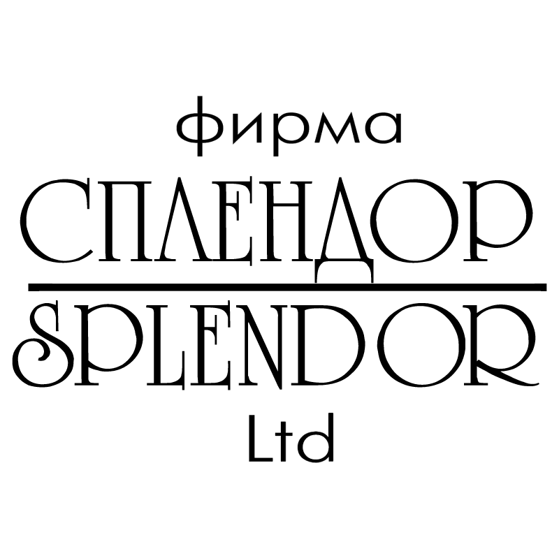 Splendor vector logo