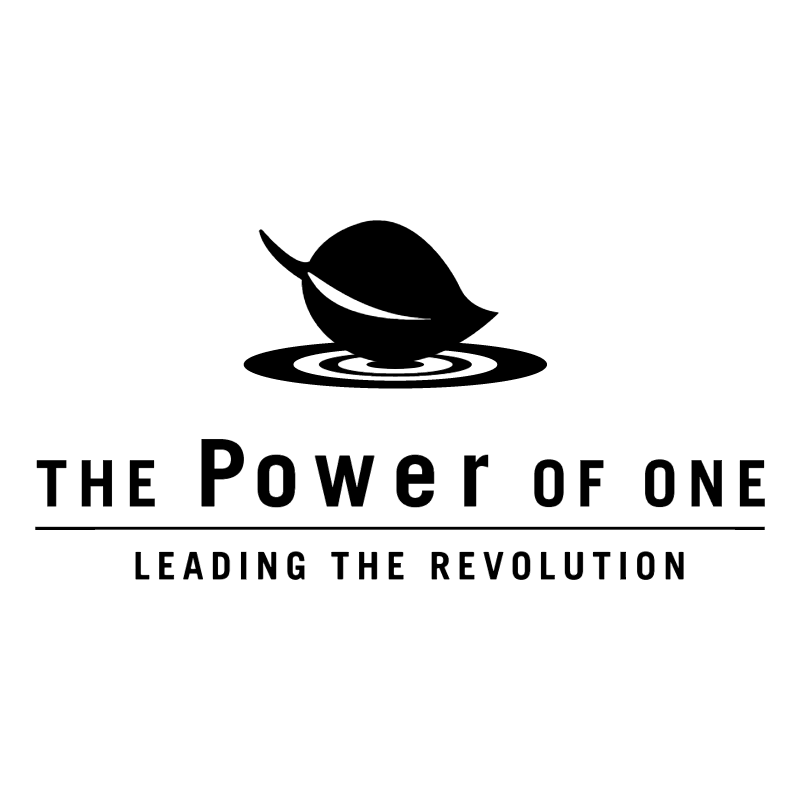 The Power Of One vector logo