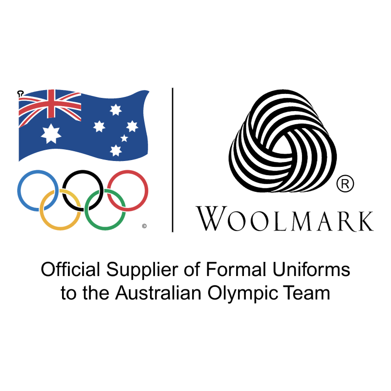 Woolmark Official Supplier of Formal Uniforms to the Australian Olympic Team vector