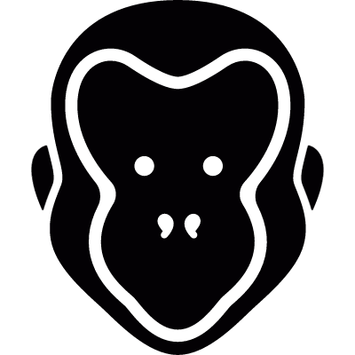 Monkey Head vector logo