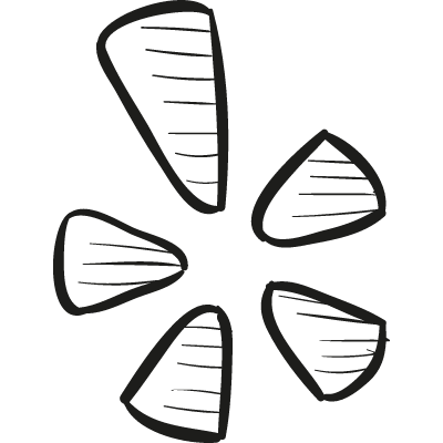 Yelp Draw Logo logo