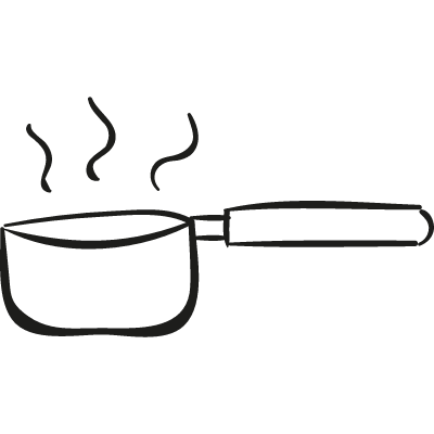 Boiling Water Pan vector logo