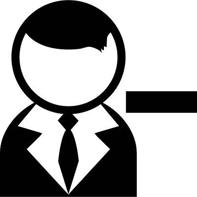User with Minus Sign logo