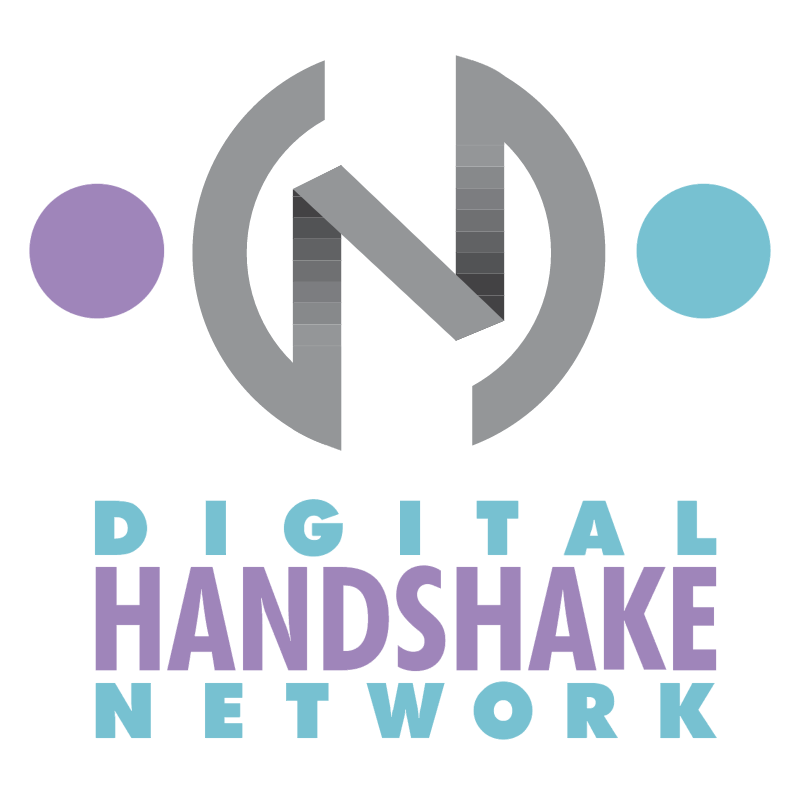 Digital Handshake Network vector