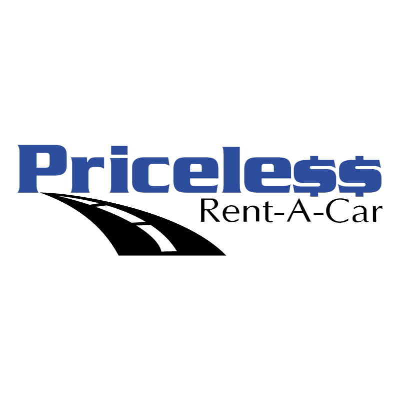Priceless Rent A Car vector