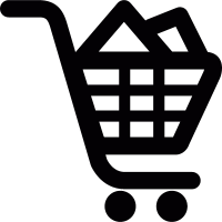 Full shopping cart vector