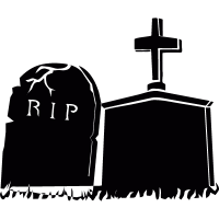 Headstones vector