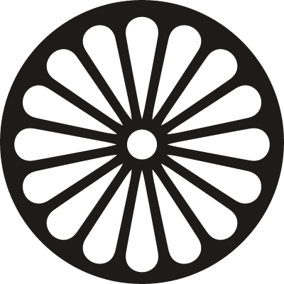 Buddhism Wheel logo